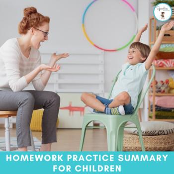 Speech-Language Pathology Homework Practice Summary