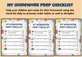 Homework Preparation Checklist