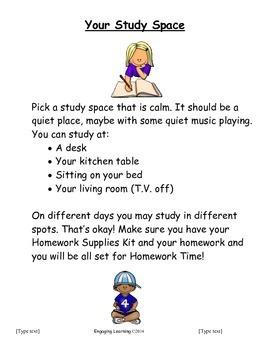 Back to School Homework Preparation Packet