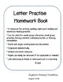 Homework Printing Practice Booklet