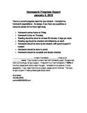 Homework Progress Report {Freebie!}