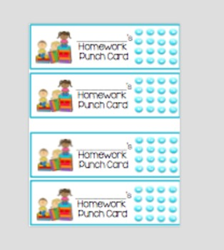 Homework Punch Card Bookmarks (Bye Bye Reading Log!)