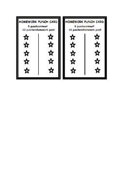 Homework Punch Cards