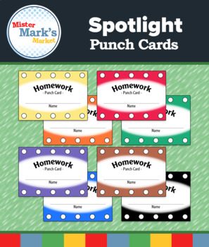 Homework Punch Cards - FREE