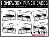 Homework Punch Cards (Positive Incentive)