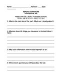 Homework Questions FREEBIE