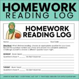 Reading Log   Homework Reading Log   Reading Response Log