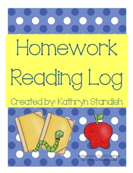 Homework Reading Log (5 days)