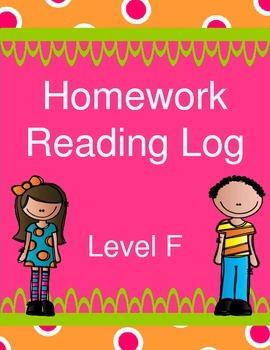 Homework Reading Log - Free