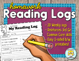 Homework Reading Logs - Common Core Aligned