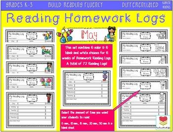 Homework Reading Logs (May-July)
