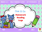 Homework Reading Logs (May-July)