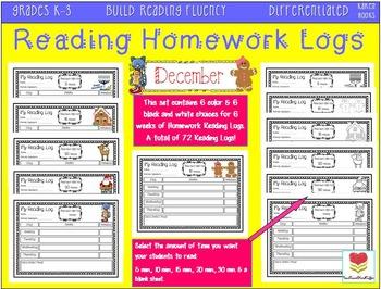Homework Reading Logs (November-January)