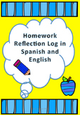 Homework Reflection Log in Spanish and English