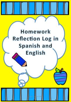 Homework Reflection Log in Spanish and English