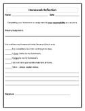 Homework Reflection Sheet