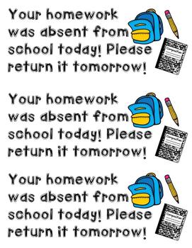 Homework and Book Reminders