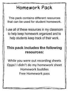 Homework Resource Pack