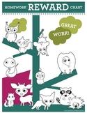 Homework Reward Chart by Astute Hoot {FREE}