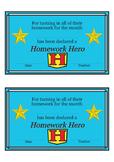 Homework Reward- Hero