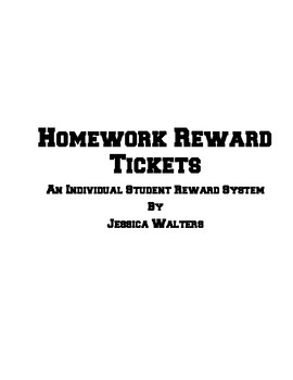 Homework Reward Punch Passes- An Individual Student Incentive