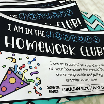 Homework Rewards -Homework Club