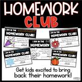 Homework Club- Homework Rewards