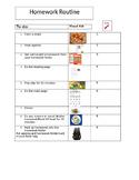 Homework Routine Checklist- Editable