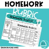Homework Rubric