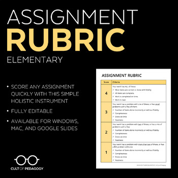 Assignment Rubric: Elementary