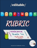 {EDITABLE} RUBRIC: HOMEWORK /HS Math