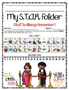 Homework STAR Folder (Hollywood Theme)