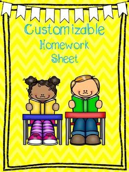Homework Sheet