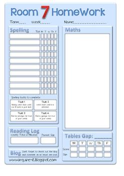 Homework Sheet Template 2 (Editable)