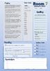 Homework Sheet Templates Editable - 5 Colours