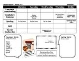 Homework Sheet Template - Page Layout Horizontal