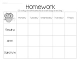 Homework Sheet for Learning Support