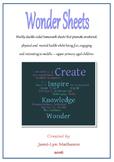 Wonder Sheets (10 weeks included)