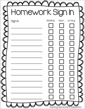 Homework Sign In