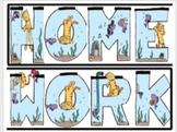 Homework Sign for Classroom
