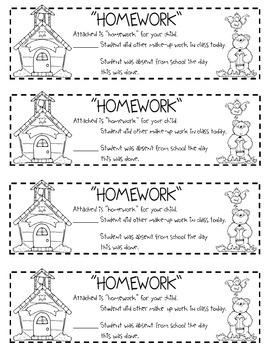 Homework Slip
