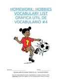 Homework Sp1 - Unit 4 Vocabulary: Three Column List for Hobby Words