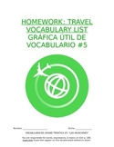 Homework Sp1 - Unit 5 Vocabulary: Three Column List for Travel Words