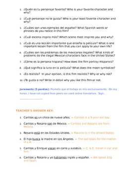 """Homework Sp1 or Sp2 - Análisis de película: Movie Guide for """"Misma Luna"""""""