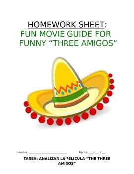 """Homework Sp1 or Sp2 - Análisis de película: Movie Guide for """"The Three Amigos"""""""