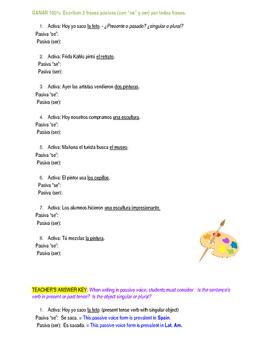 """Homework Sp3, Sp4, Sp5 - Dos voces pasivas: Passive Voice with """"Se"""" or """"Ser"""""""