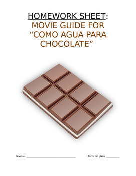 """Homework Sp3, Sp4, Sp5 - Guía de peli: Analyze Film """"Como"""
