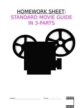 Homework Sp3, Sp4, Sp5 - Guía de película: Standard Movie Guide in 3-Parts