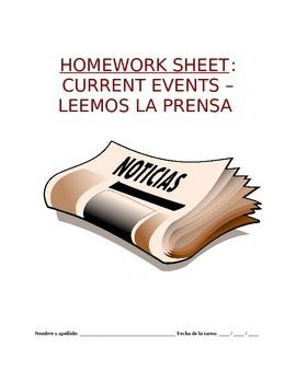 Homework Sp5 - Noticias actuales: Summarize and Analyze Spanish Article