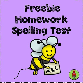 Homework Spelling Test Freebie